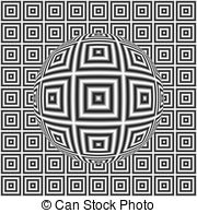 Optical Illusion clipart ball Illusion  checkered A is
