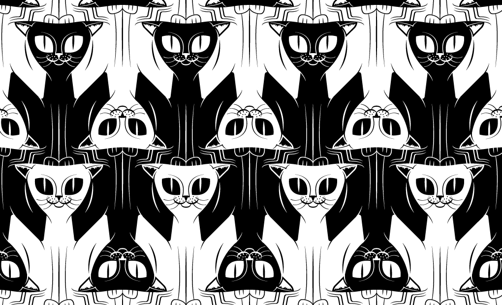 Optical Illusion clipart black and white By Tessellation White Prokhorov