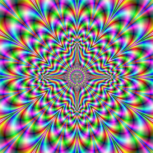 Optical Illusion clipart colourful Mønstre hologram illusion Psychedelic