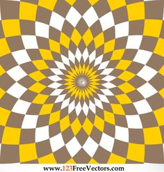Optical Illusion clipart illustrator Flower Pattern Vector Chevron and