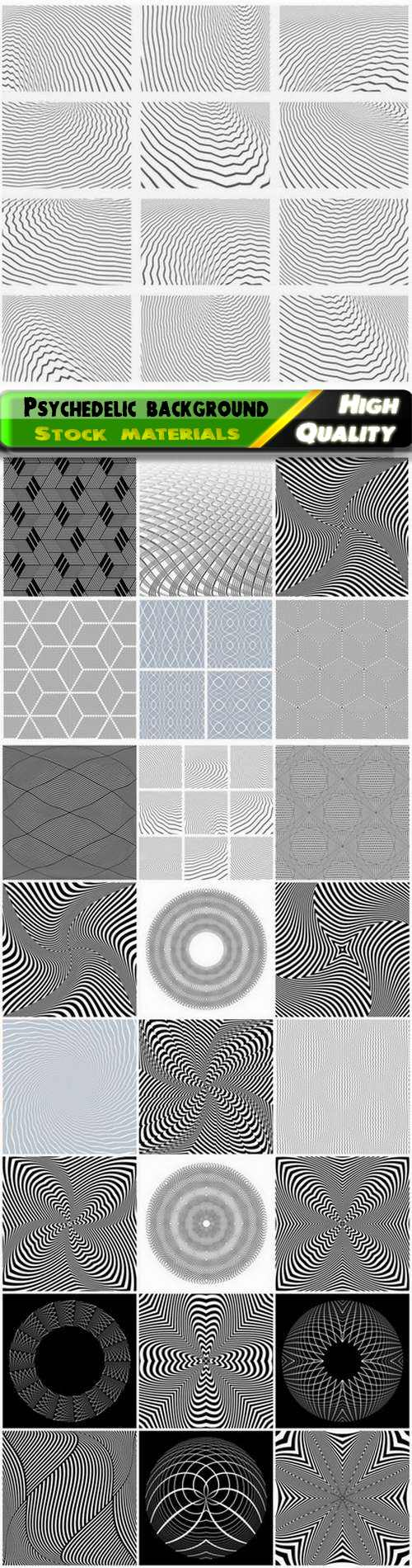 Optical Illusion clipart linear Eps psychedelic background with linear