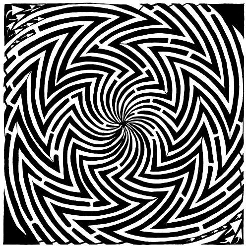 Optical Illusion clipart maze Spinning on picassa maze stop
