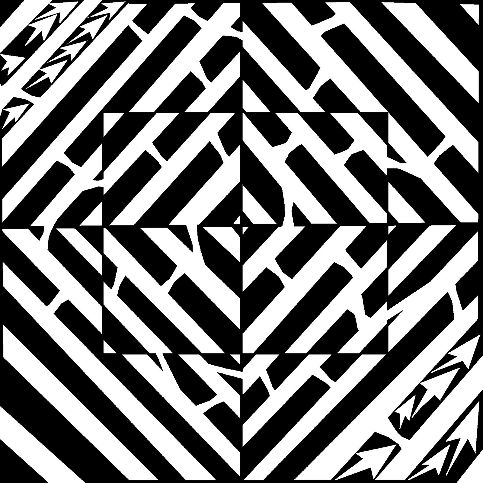Optical Illusion clipart maze  Maze ClipArt