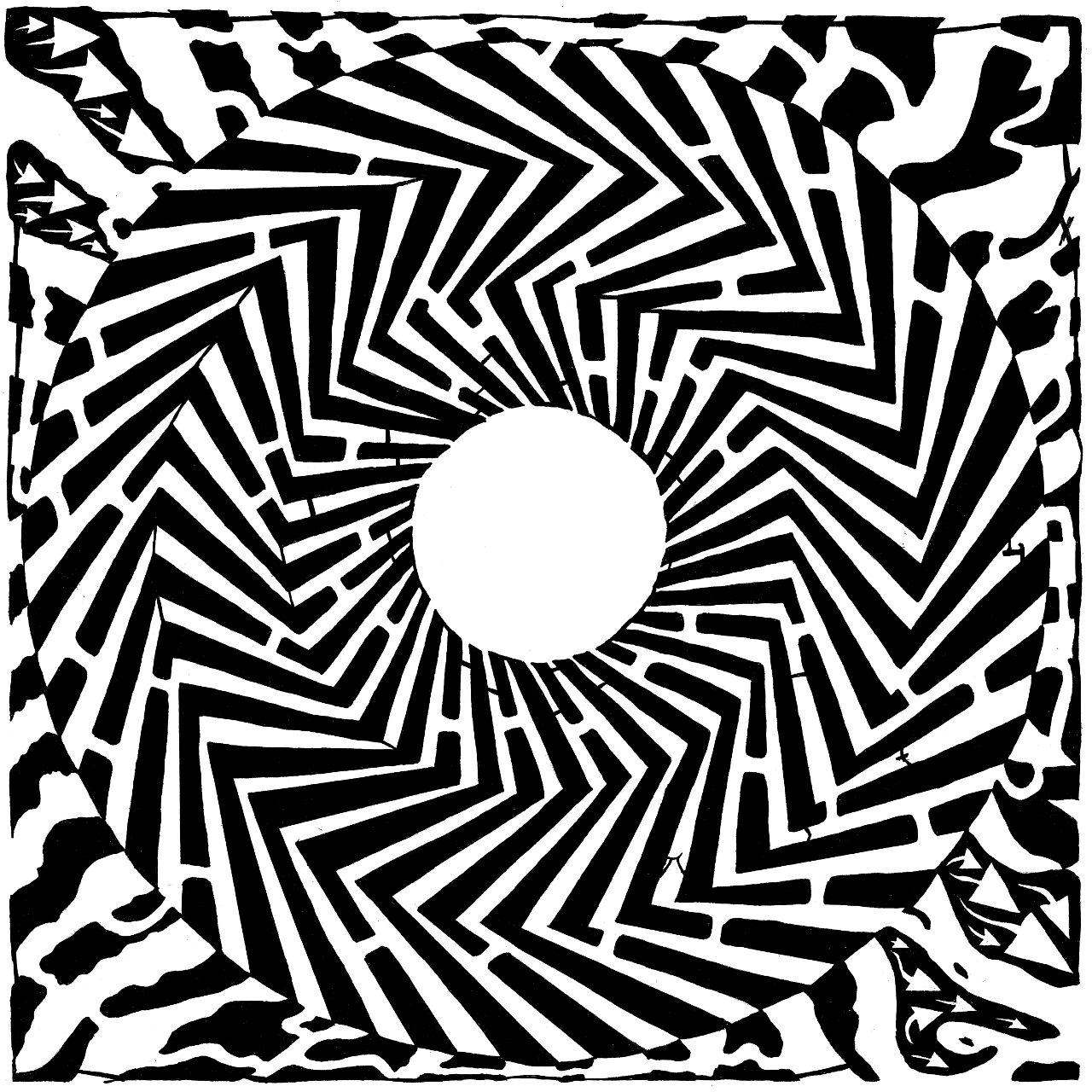 Optical Illusion clipart maze Illusion swirly Illusions yonatan frimer