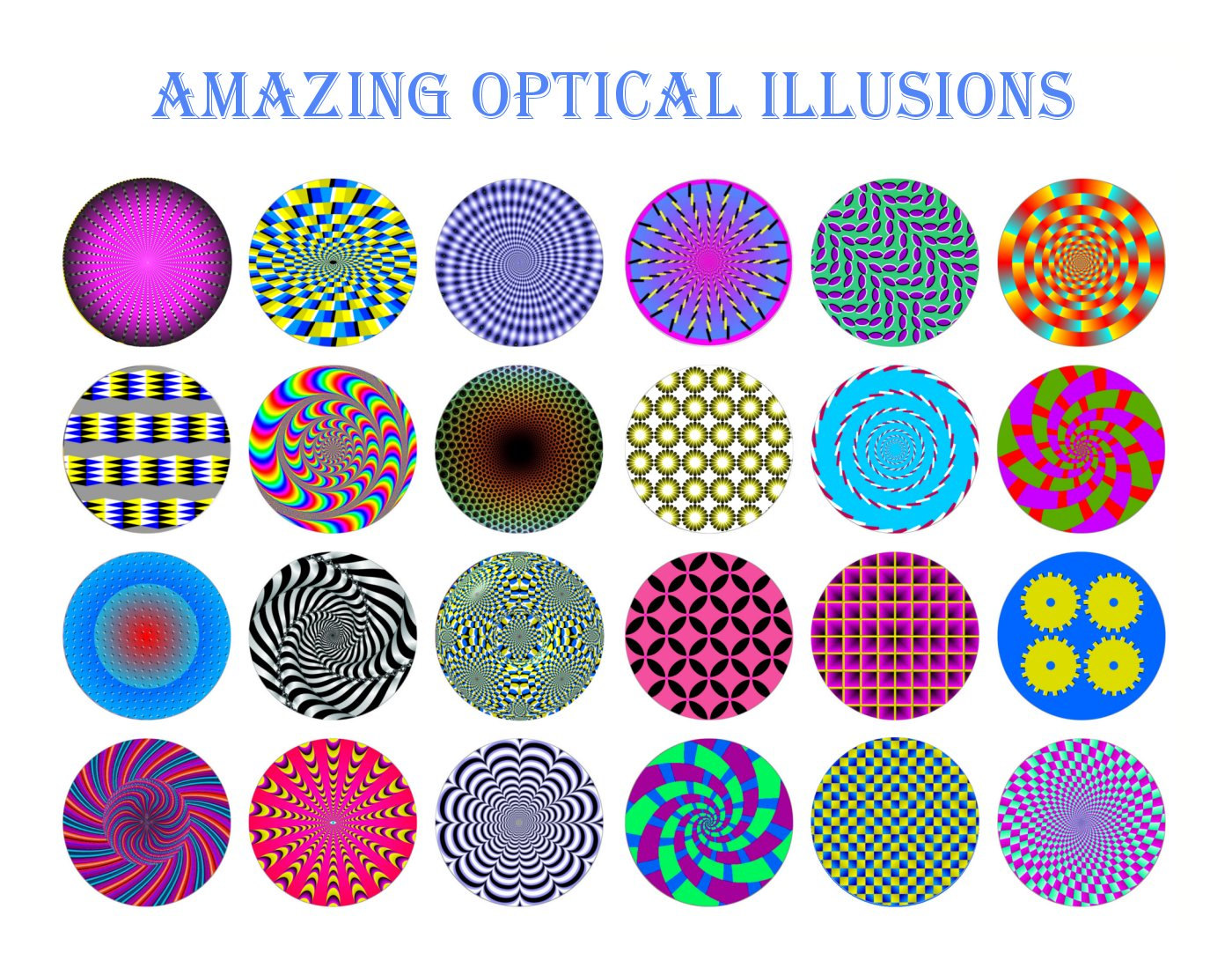 Optical Illusion clipart printable Circles CIRCLES OPTICAL Instant file