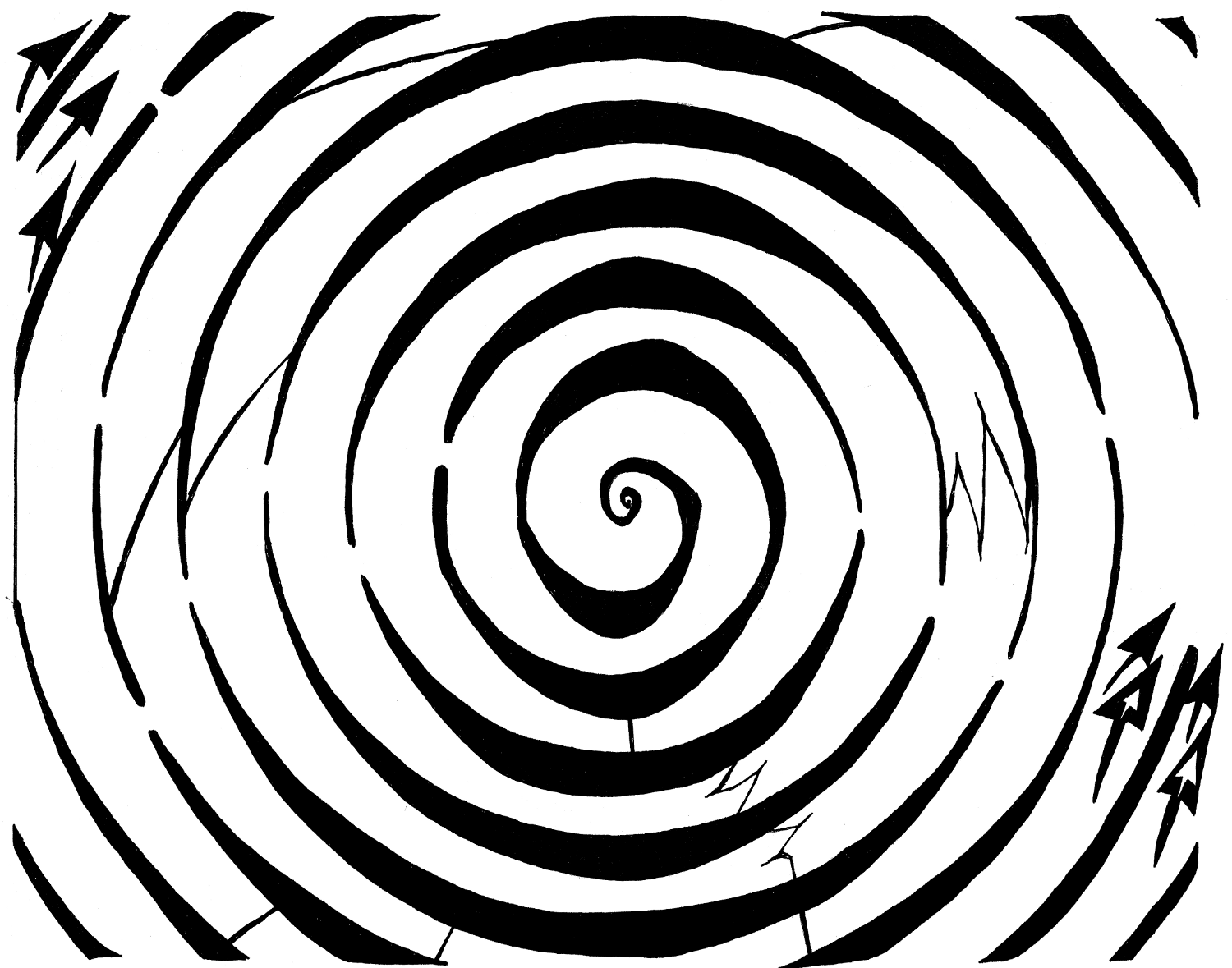 Drawn maze spiral And  Dopler art Mazes