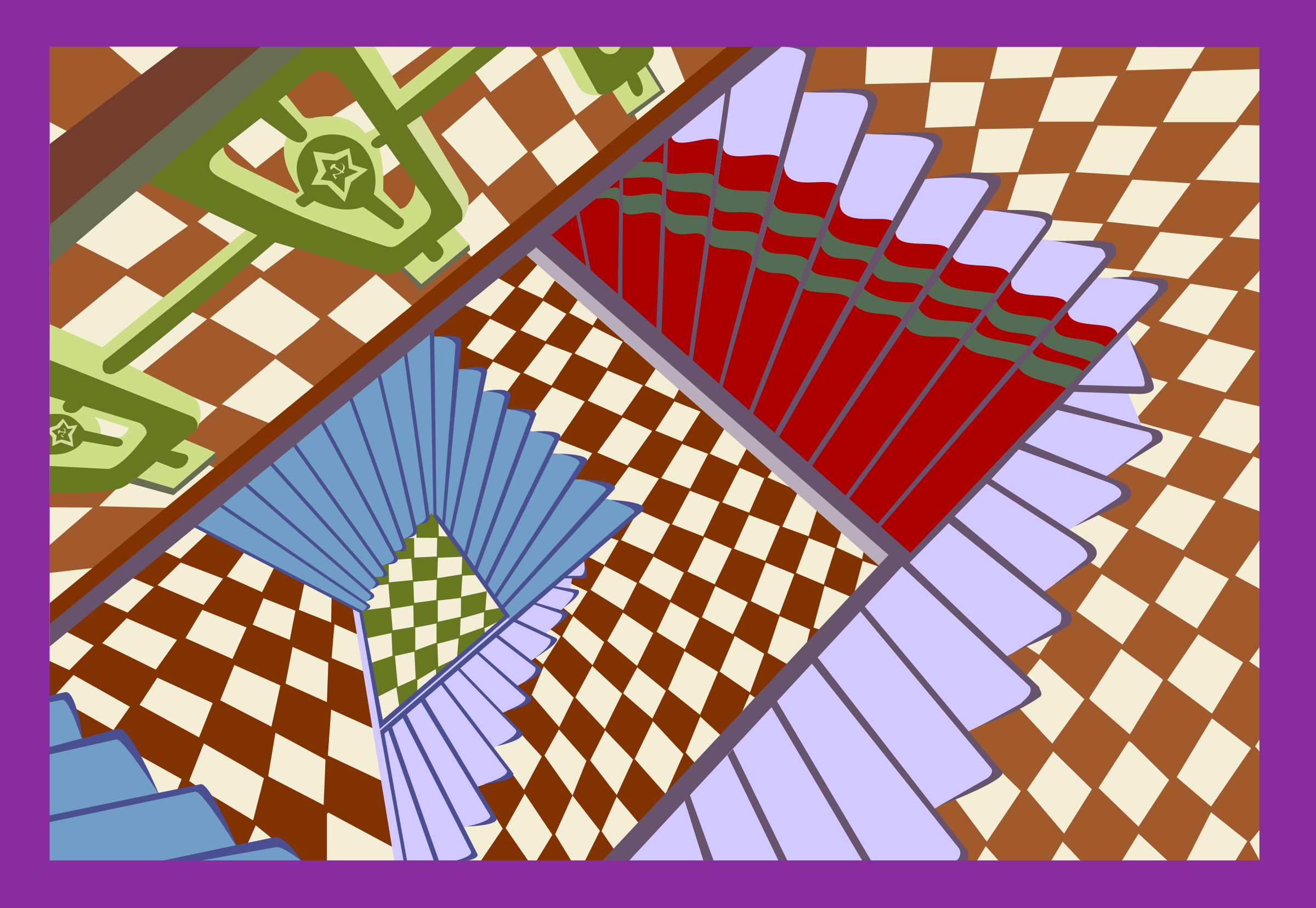Optical Illusion clipart trippy Illusion of stairs of optical