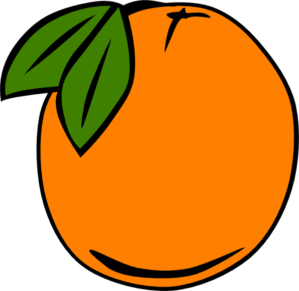 Orange (Fruit) clipart cartoon Clipart Black Orange Clipart Images
