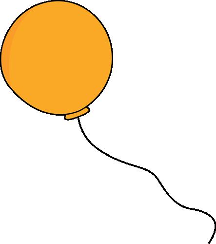 Balloon clipart string Art Orange Balloon Orange on