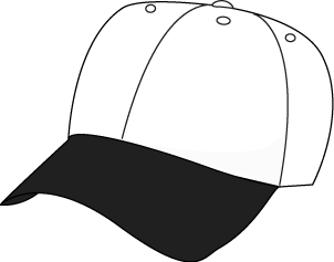 Black & White clipart hat Baseball Black and Hat Hat