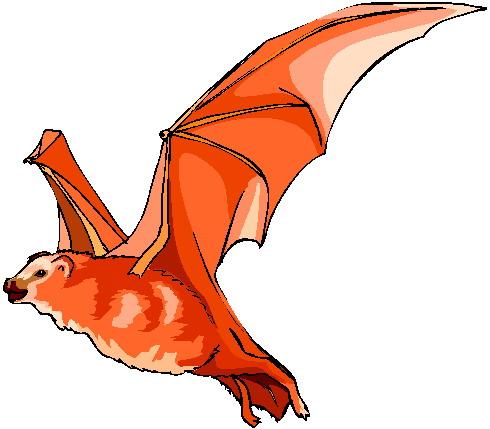 Bat clipart orange Bats Clip Bats Art art