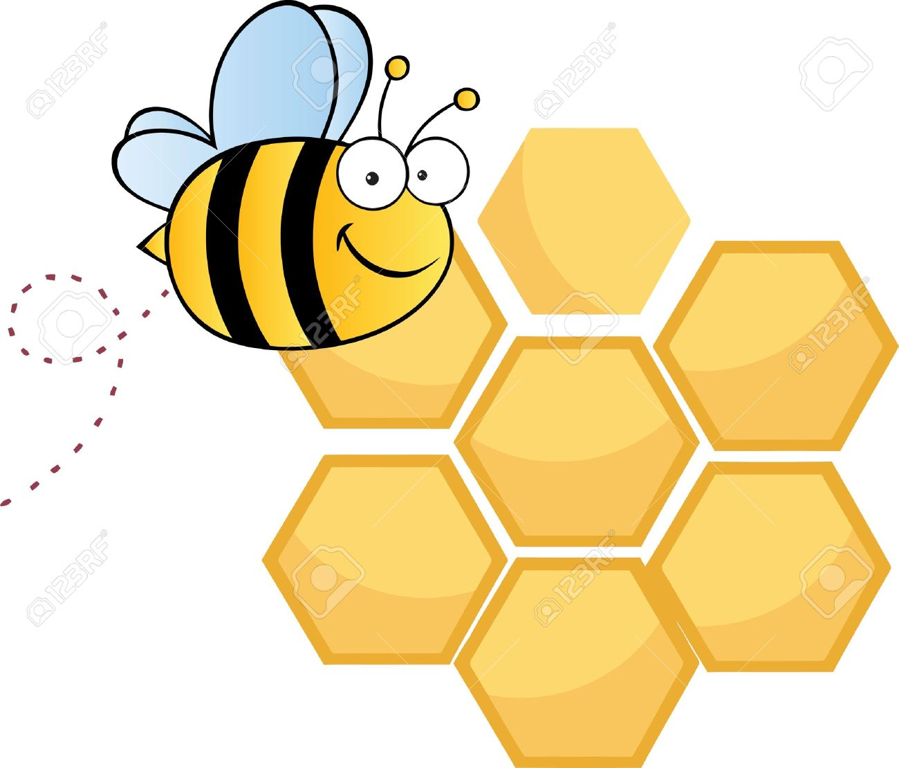 Bee Hive clipart honeycomb Bees Clipart Flying Clipart Download