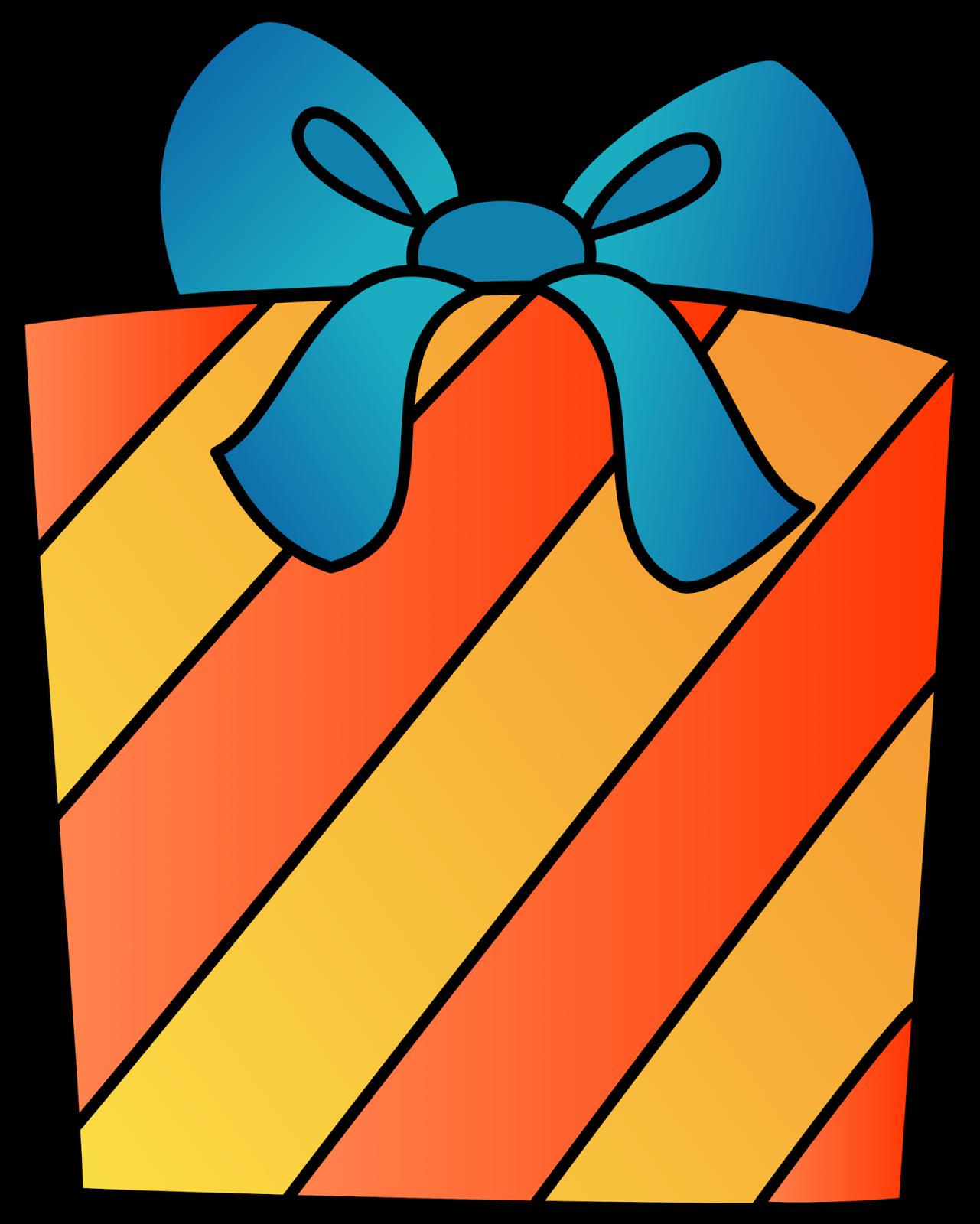 Birthday clipart orange Clipart Clip present Happy clipart