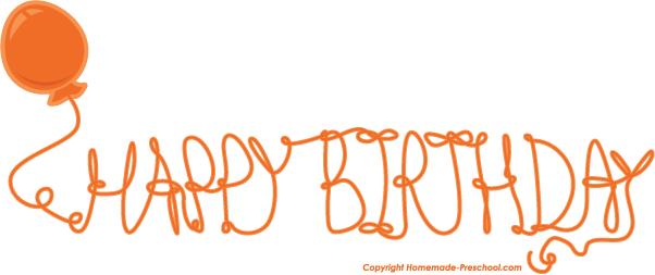 Birthday clipart orange Birthday Happy Happy Orange Download