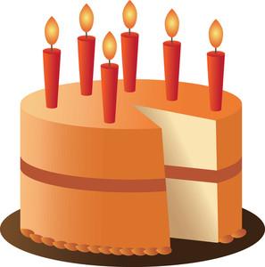 Birthday clipart orange Birthday Downloads Orange Clipart Type
