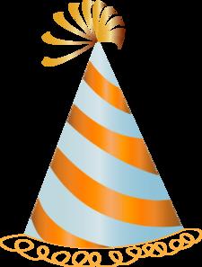 Birthday clipart orange Vector Hat Hat  Party