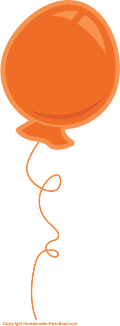 Birthday clipart orange Clipart Save Balloons Birthday Click