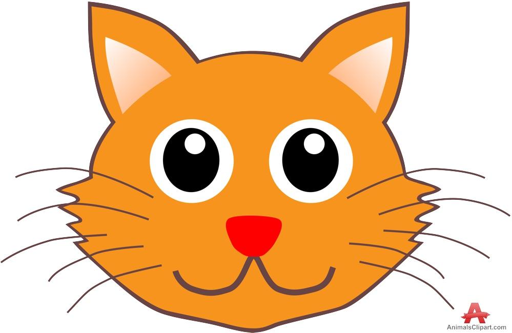 Orange clipart cat face Cat Cat Clipart Download Design