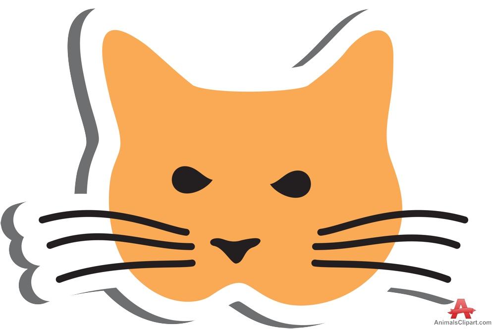 Orange clipart cat face Logo Face Download Free Face