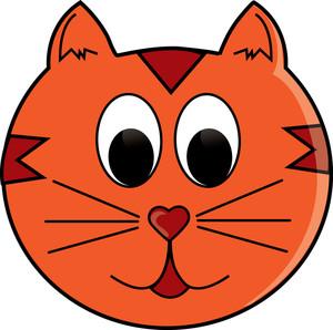 Orange clipart cat face Panda Cat Free Clipart Clipart