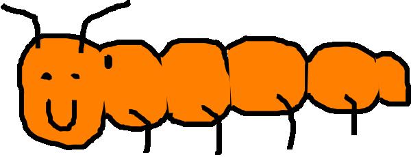 Caterpillar clipart orange Com Orange Clker vector Clip