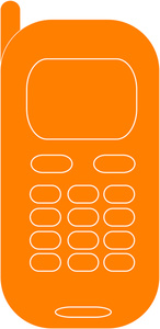 Orange clipart cell phone Cell Cell Phone Phone Orange
