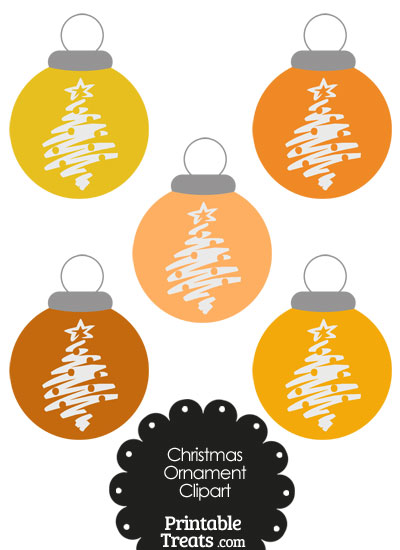 Christmas Ornaments clipart orange Com PrintableTreats Christmas Tree Christmas
