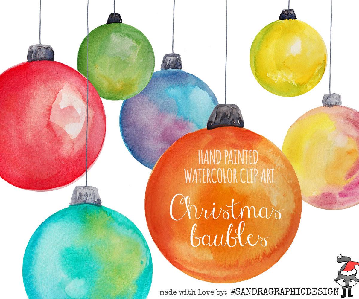 Christmas Ornaments clipart orange Balls Christmas 12 art