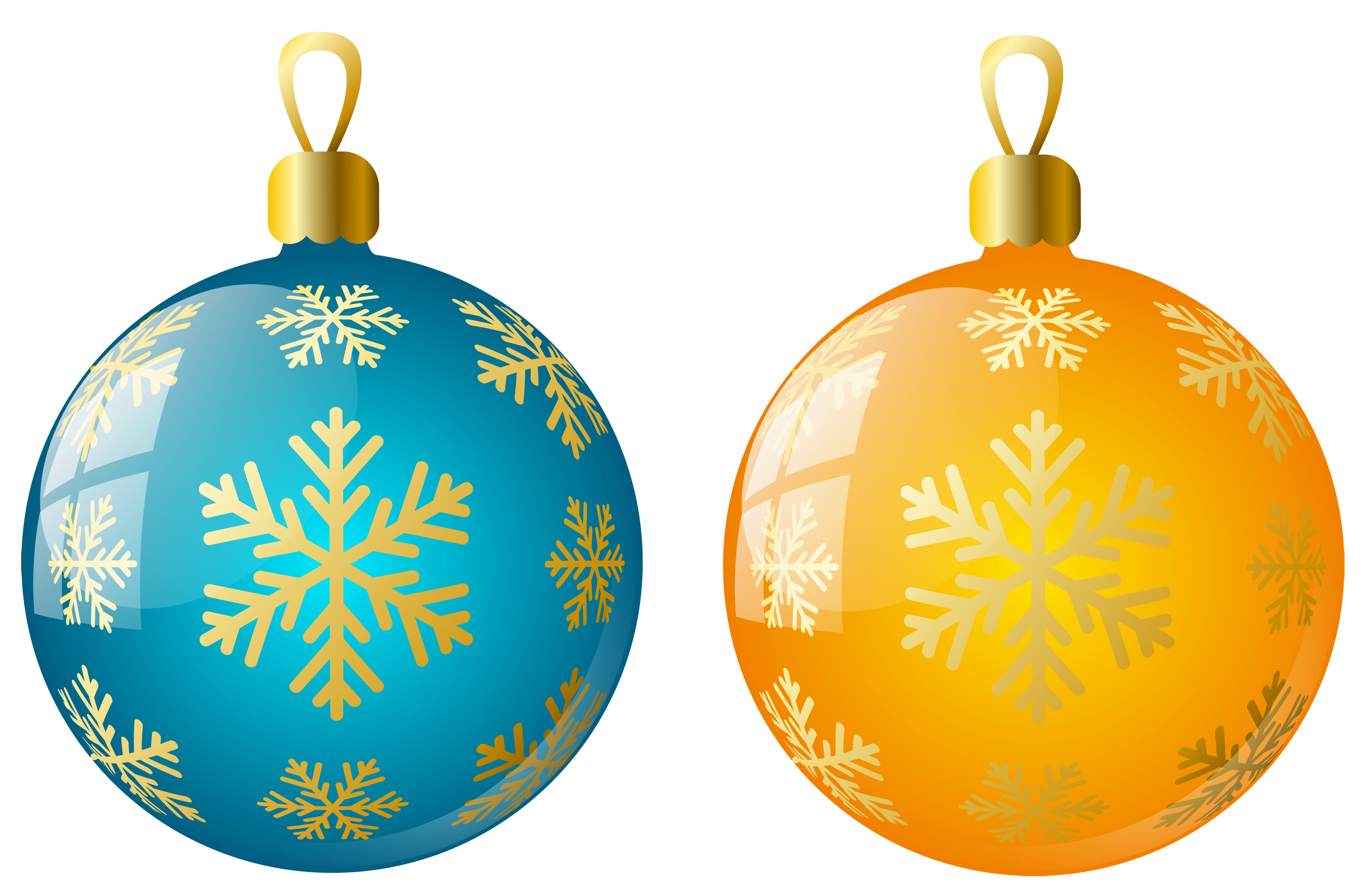 Yellow clipart ornament Size and Blue Ornaments full