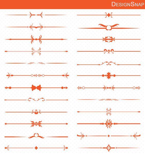 Orange clipart divider Orange Dividers Vintage Text border