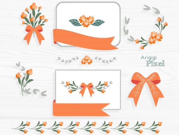 Orange clipart divider Orange Cliparts · card Text