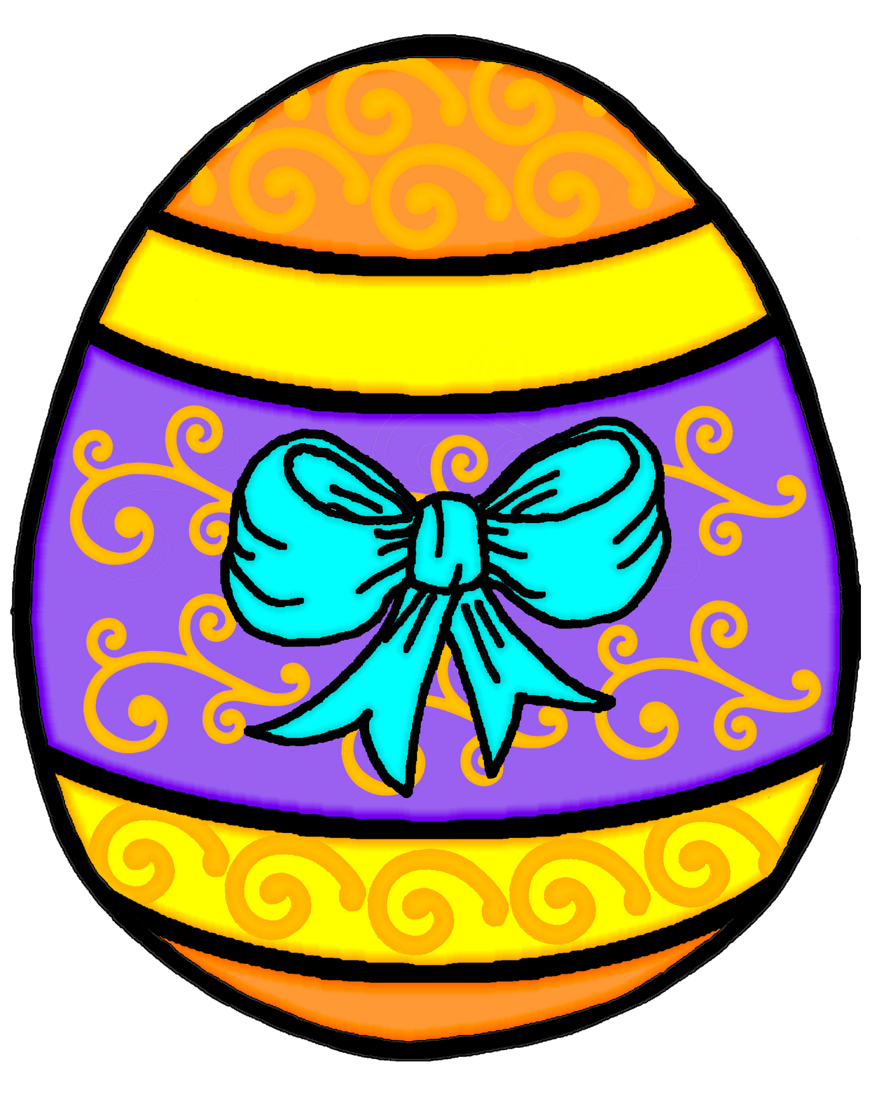 Orange clipart easter eggs Art Cliparting image images 3