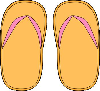 Orange clipart flip flops Flip Flop Flops Images Yellow