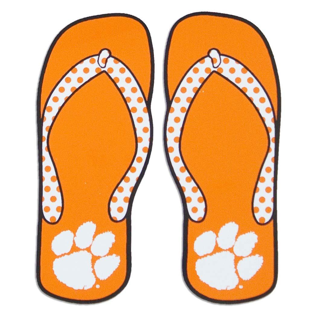 Orange clipart flip flops Clemson #clemson Clemson Auto Flip