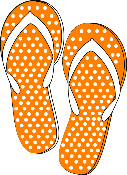 Orange clipart flip flops Art Clip Art online image