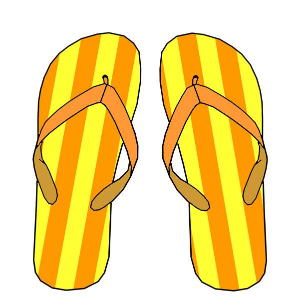 Orange clipart flip flops Flip Clipart flip flops flip