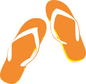 Orange clipart flip flops Com Orange  Flip online