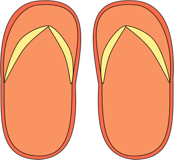 Orange clipart flip flops Flip Flop Flops Images Orange