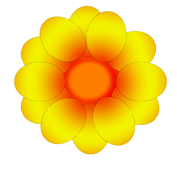 Orange Flower clipart small flower Art Image Gumdrop gumdrop Gumdrop