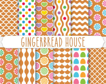 Gingerbread clipart background #1
