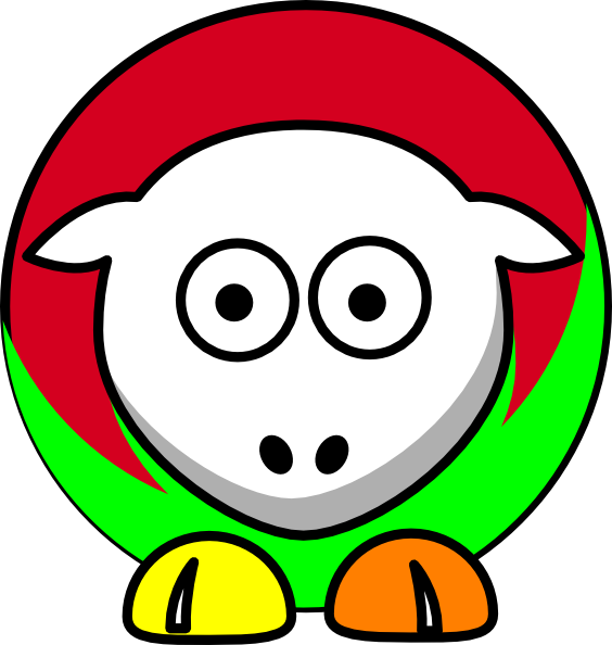 Yellow clipart gumdrop Art Yellow Red this Sheep