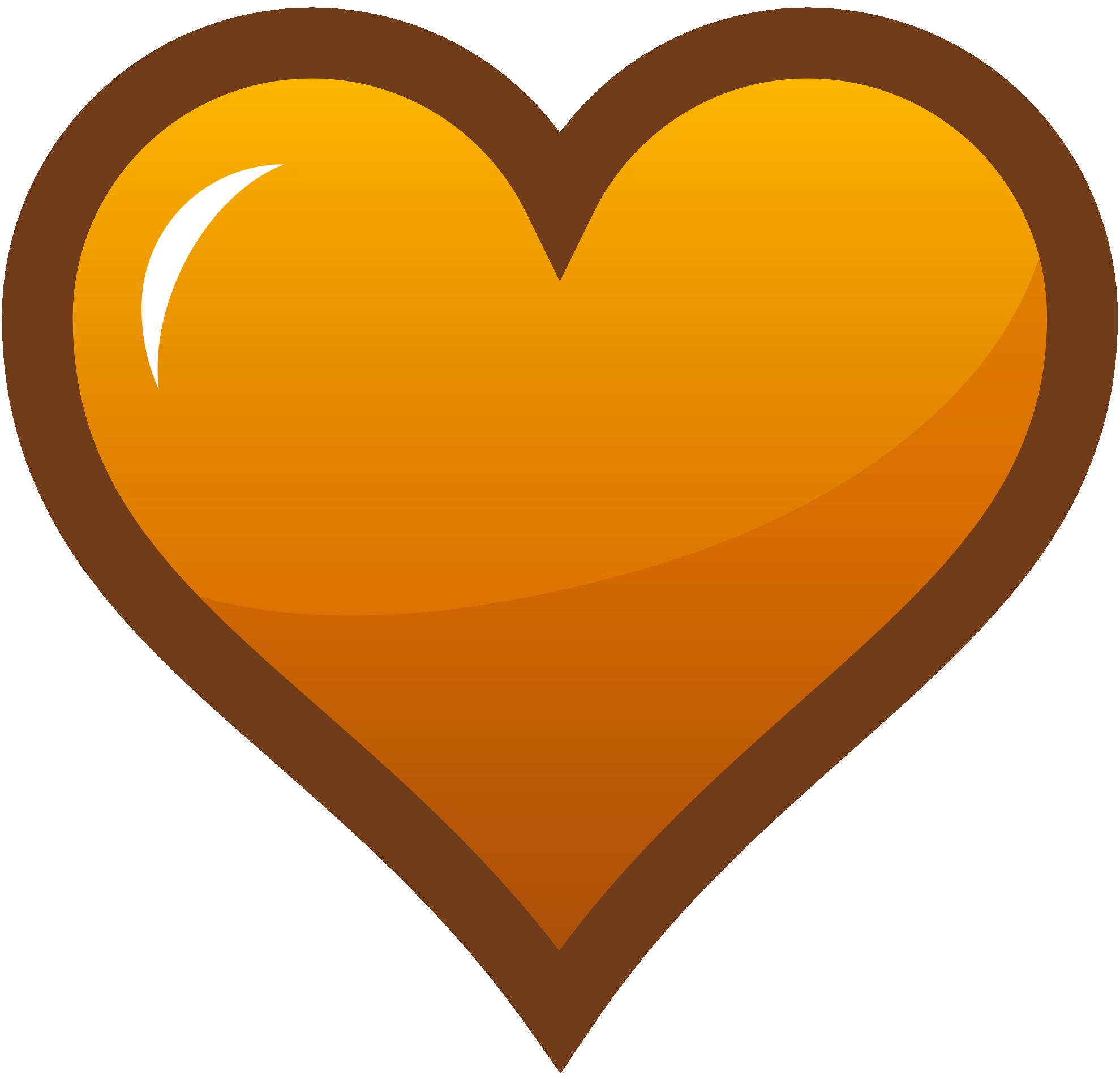 Hearts clipart icon Orange Clipart Orange Thanksgiving Clipart