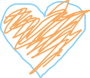 Crayon clipart heart Clker And Heart com
