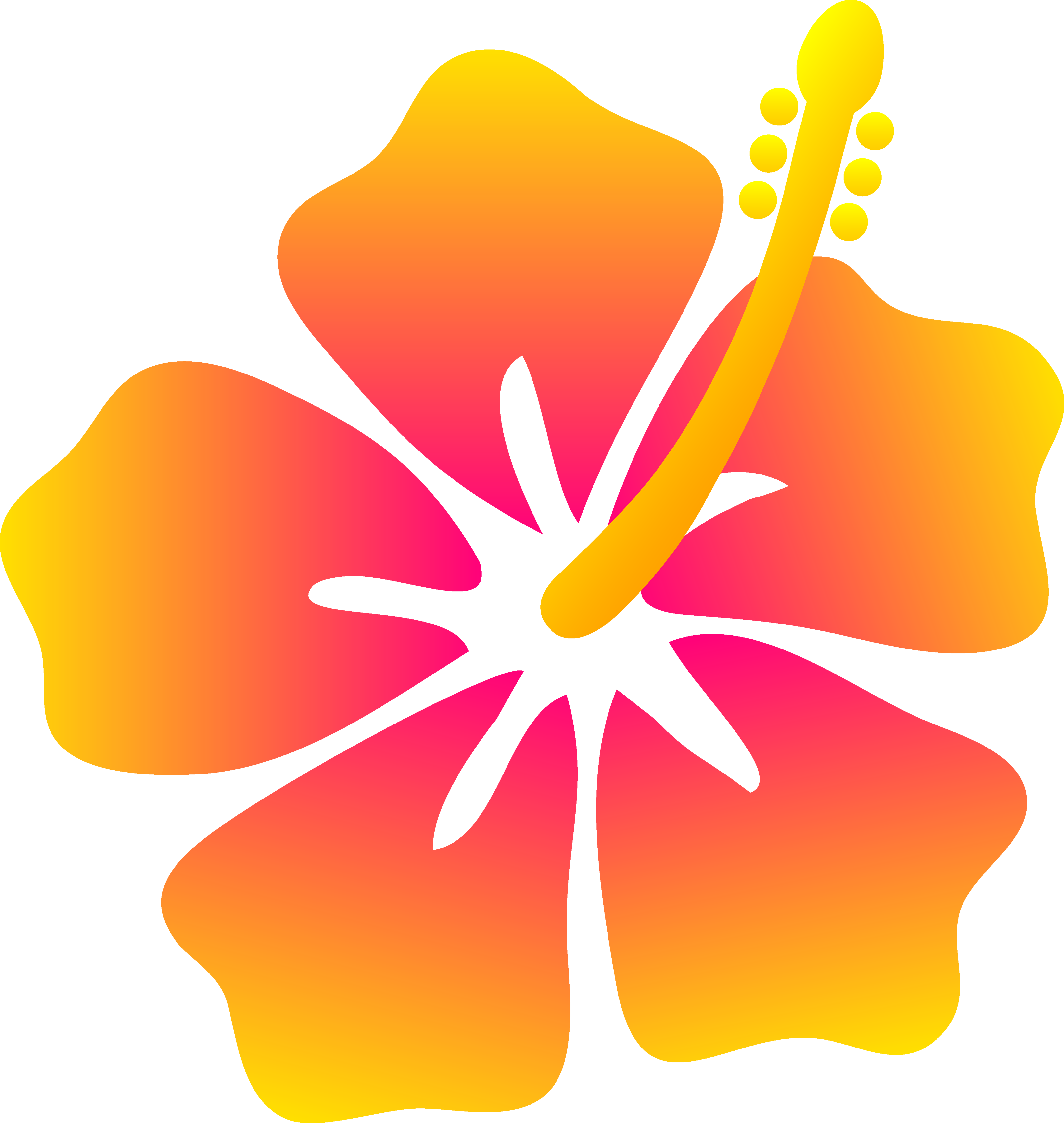 Yellow Flower clipart animated Hibiscus  Flower free flower