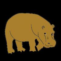 Brown clipart hippo Print Hippo Art Clipart Clip