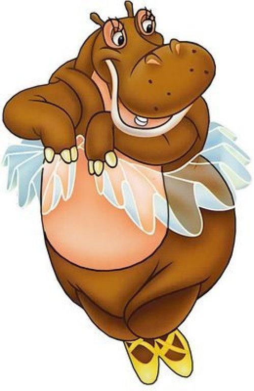 Ballerina clipart hippo #3