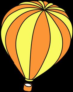Orange clipart hot air balloon At Clker Hot Art vector