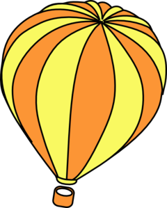 Orange clipart hot air balloon At Hot Art Hot