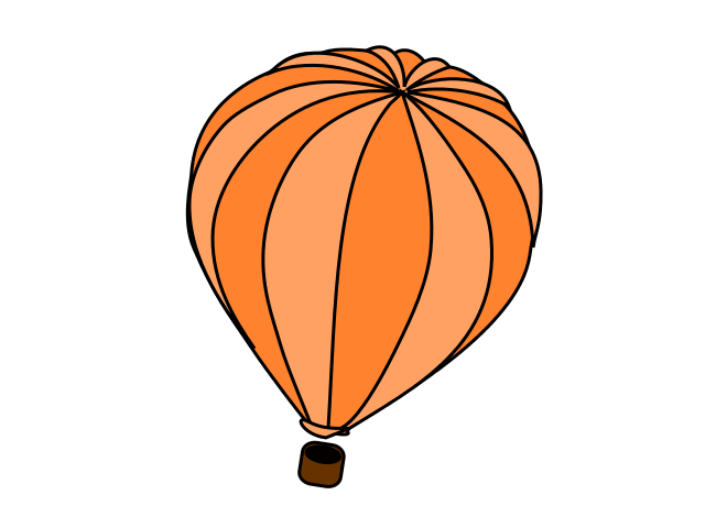 Orange clipart hot air balloon Png Art Panda Clip Clipart