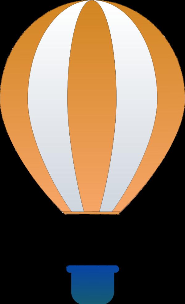 Orange clipart hot air balloon Free Clip vector Vertical